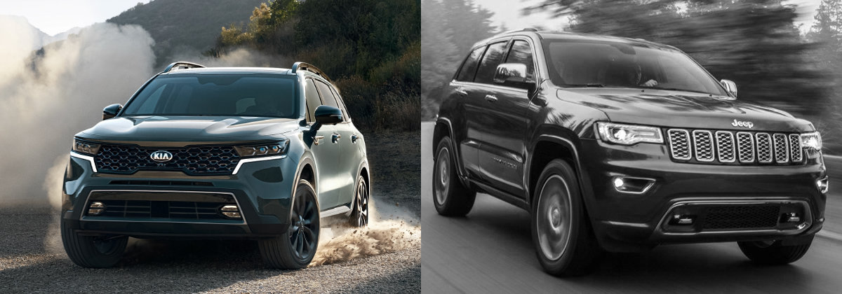 Drive Taylor - Check out the 2021 Kia Sorento vs 2021 Jeep Grand Cherokee near Poland OH