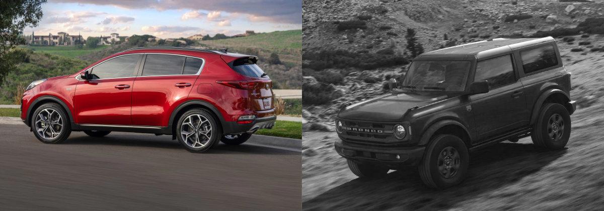 2021 Kia Sportage vs 2021 Ford Bronco - Taylor Auto Group