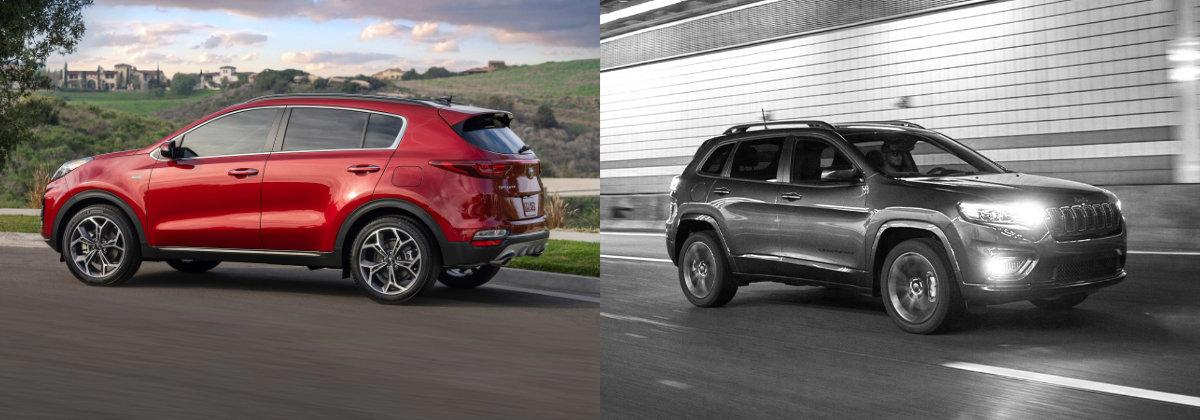 2021 Kia Sportage vs 2021 Jeep Cherokee near Youngstown OH