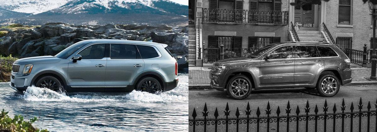 2021 kia telluride vs 2021 jeep grand cherokee in