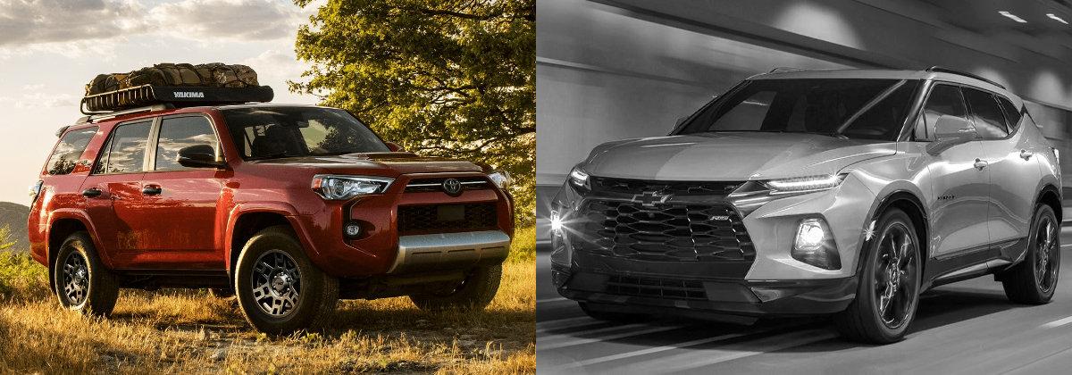 2021 Toyota 4Runner vs 2020 Chevrolet Blazer in Shreveport LA