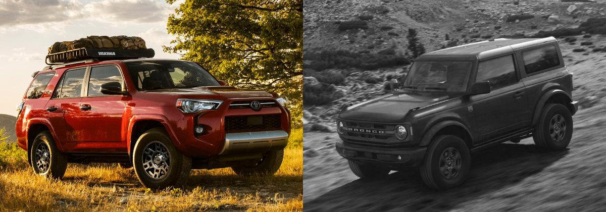 2021 Toyota 4Runner vs 2021 Ford Bronco near Sharon PA