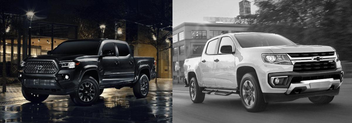2021 Toyota Tacoma vs 2021 Chevrolet Colorado in Shreveport LA