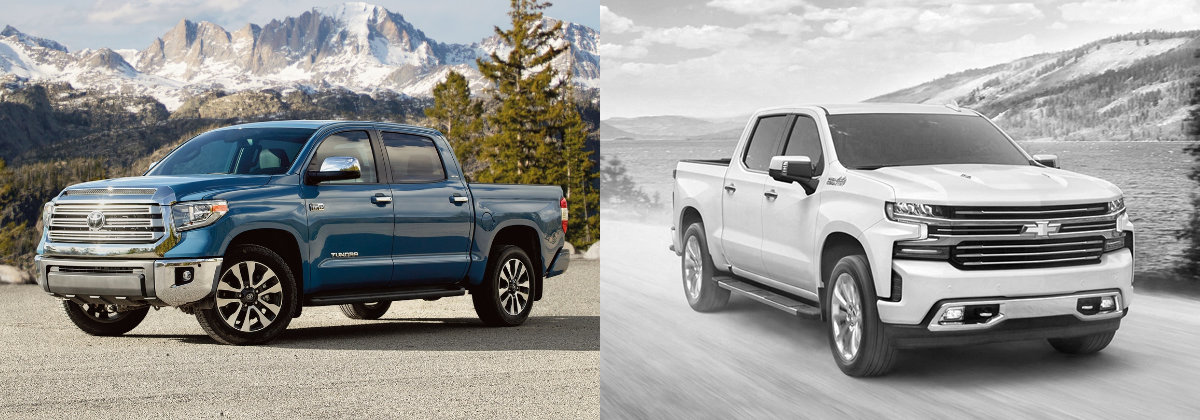 2021 Toyota Tundra vs 2020 Chevrolet Silverado 1500 in Shreveport LA