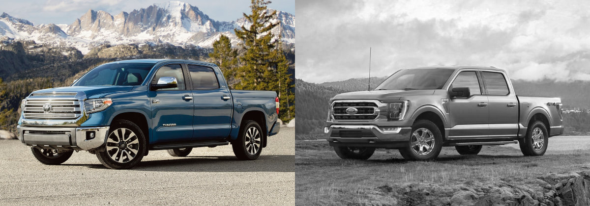 2021 Toyota Tundra vs 2021 Ford F-150 in in Hermitage PA