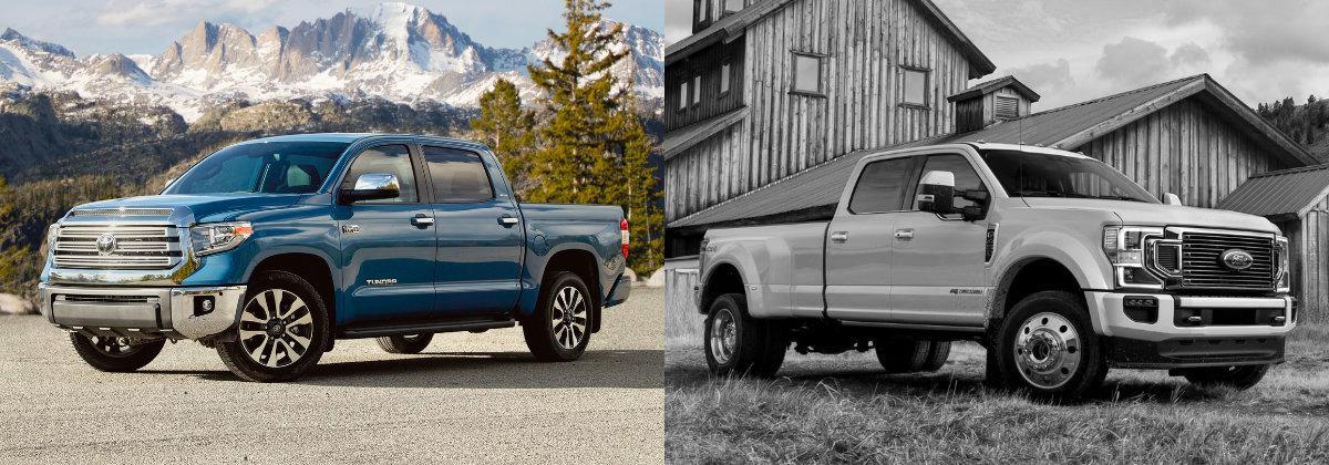 2021 Toyota Tundra vs 2021 Ford Super Duty near Sharon PA