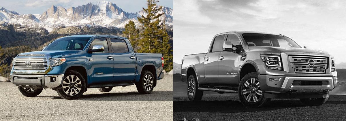 2021 Toyota Tundra vs 2021 Nissan TITAN in Shreveport LA