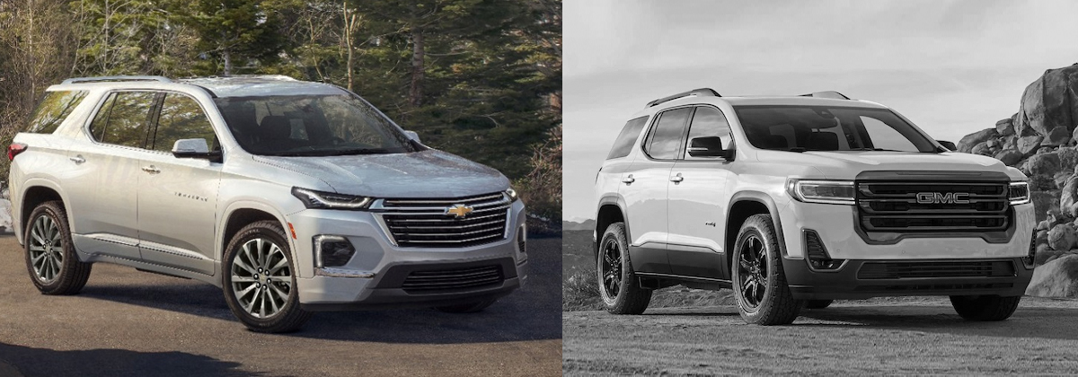 2022 Chevrolet Traverse vs 2022 GMC Acadia Comparison