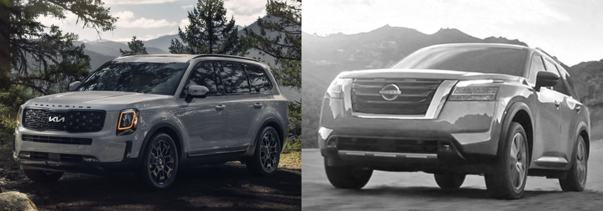 2022 Kia Telluride vs 2022 Nissan Pathfinder Comparison