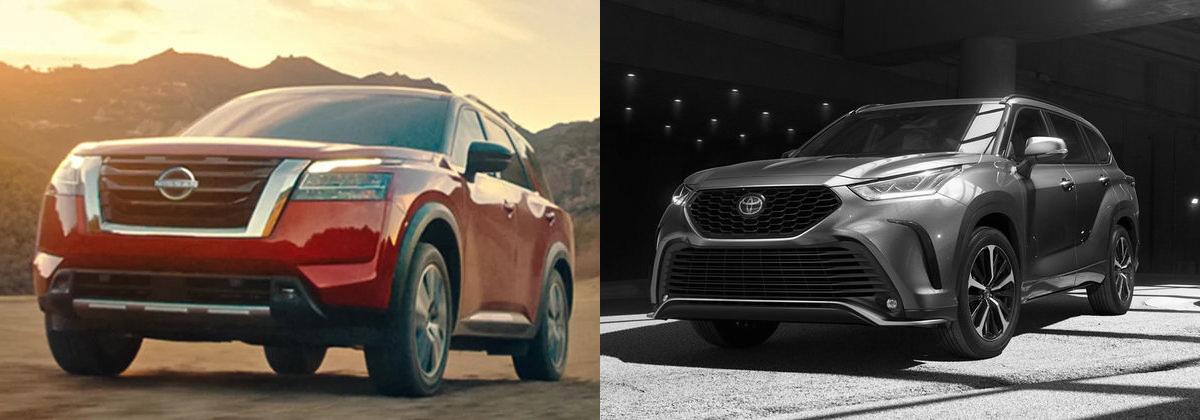 2022 Nissan Pathfinder vs 2021 Toyota Highlander - Lokey Nissan
