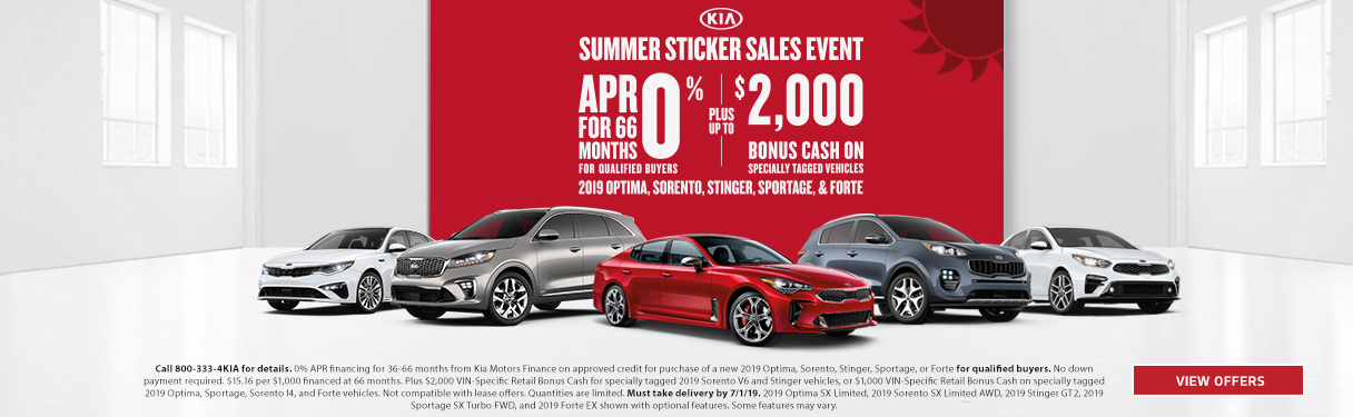 Kia Summer Sticker Sales Event near Meadville PA